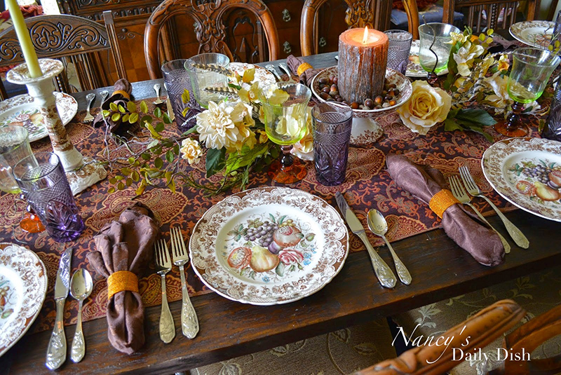 A Melange of Autumn & Thanksgiving Transferware Tablescapes