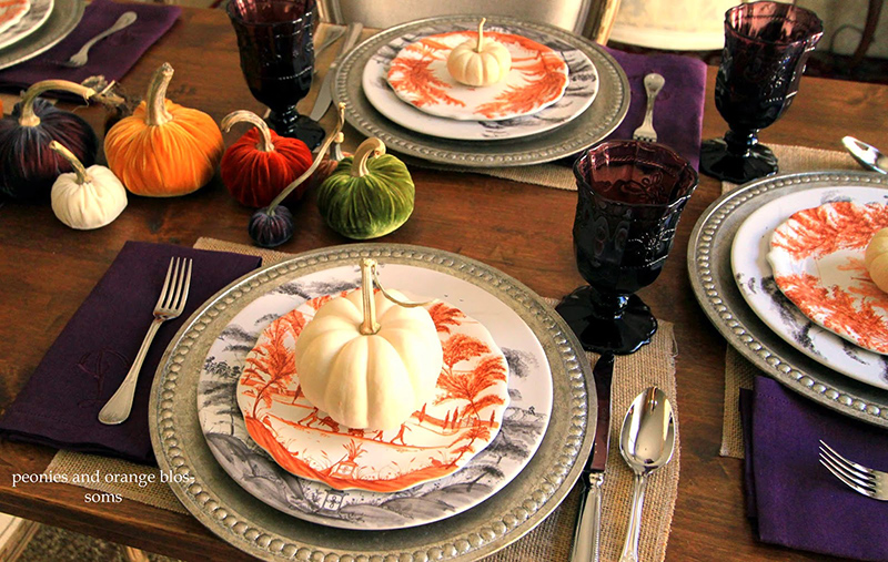 Thanksgiving Tablescape with Juliska and Pumpkins