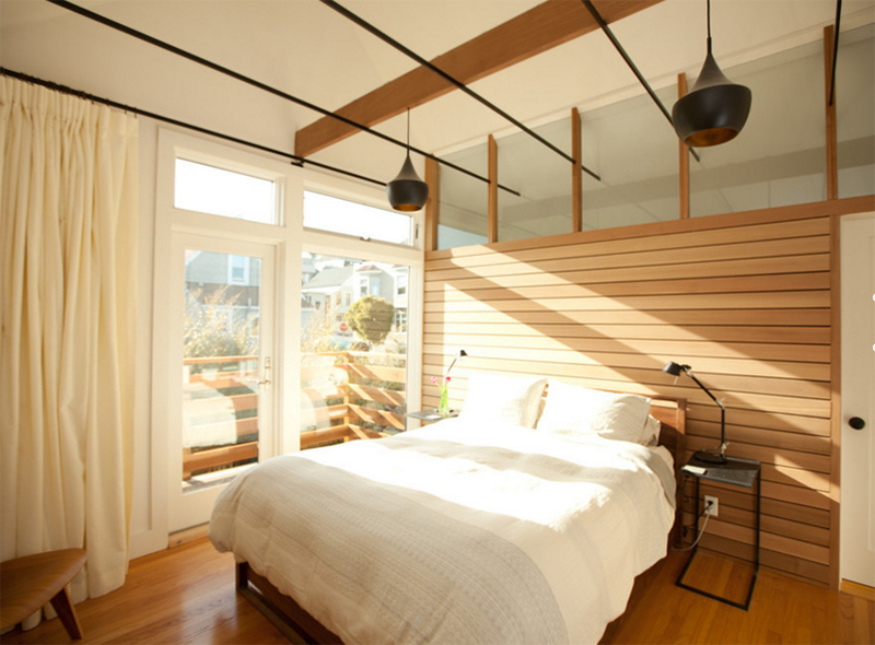 Light filled bedroom