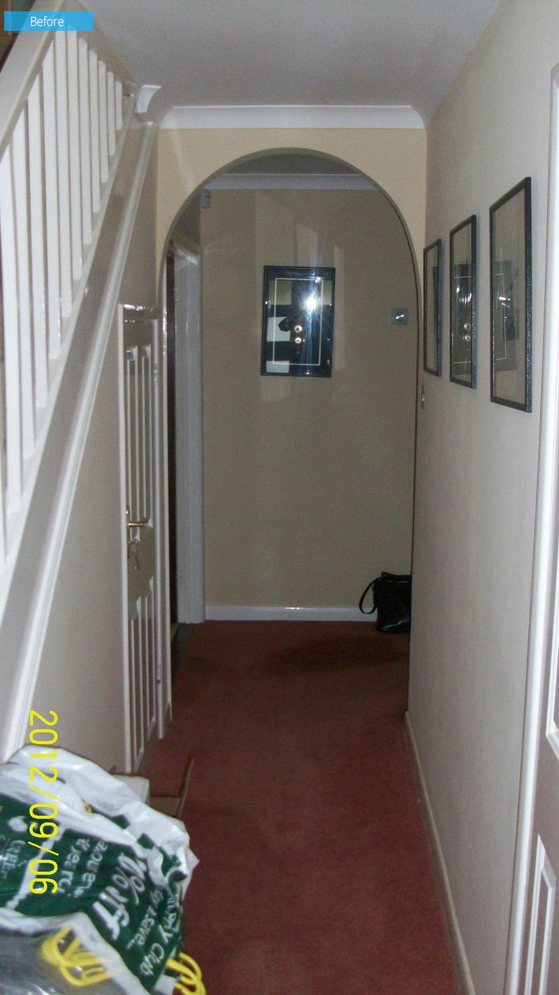 1980s Home Renovation hallway
