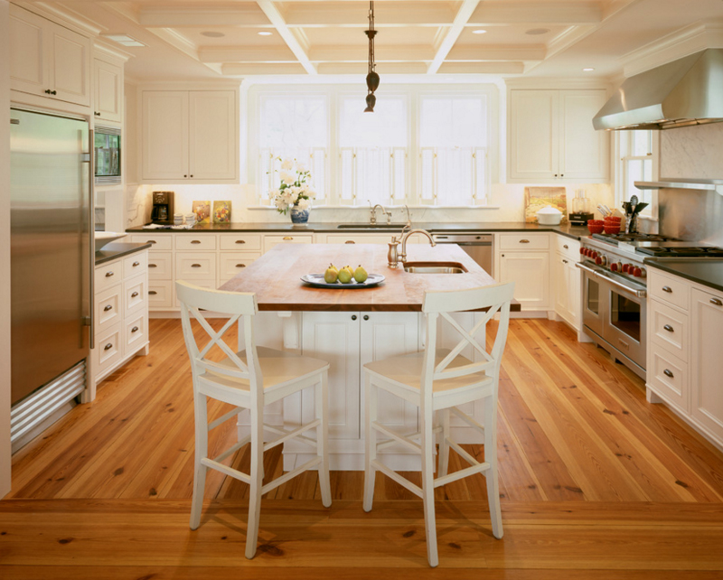 20 Beautiful Kitchens With White Chairs Home Design Lover
