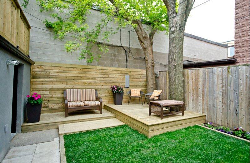 elevated patio