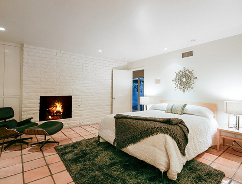 bedroom brepurposed century a wood floors under look nightstands with boho in tile modern mid