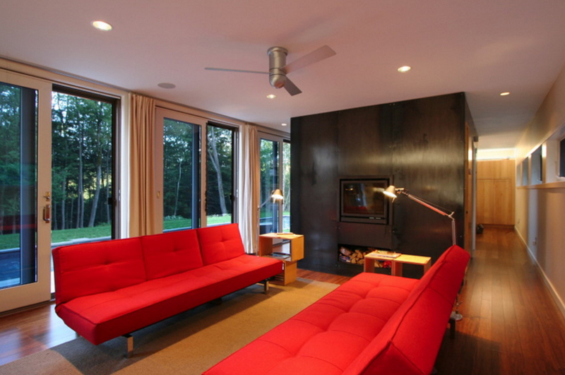 red couches