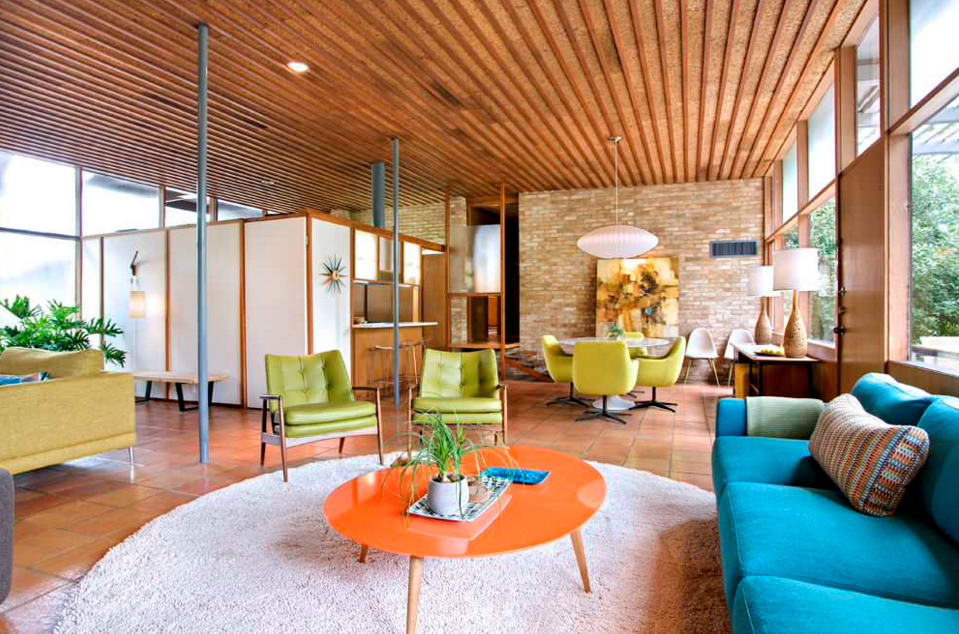 25 Bright Midcentury Modern Living Room Designs