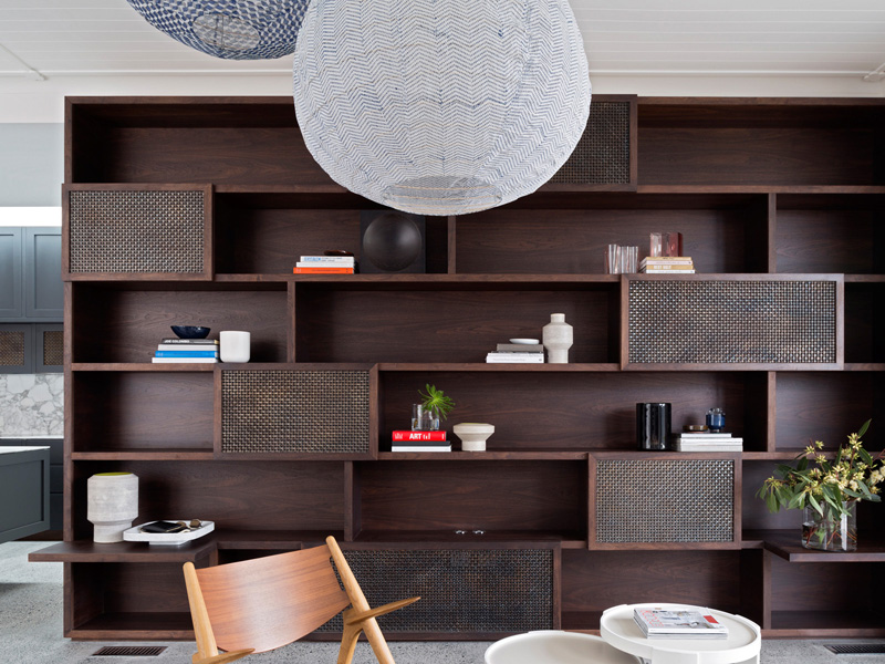 Balancing House bookshelf