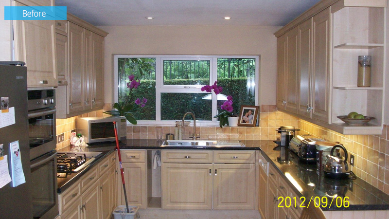 1980s Home Renovation kitchen