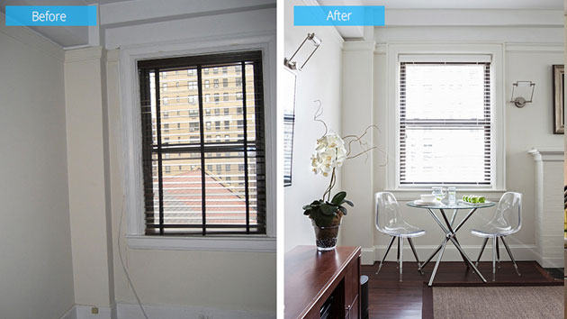 Before And After Updated Interior Of Pied 224 Terre With