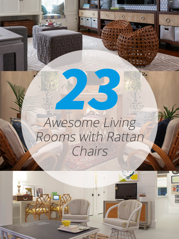 23 Awesome Living Rooms With Rattan Chairs Home Design Lover