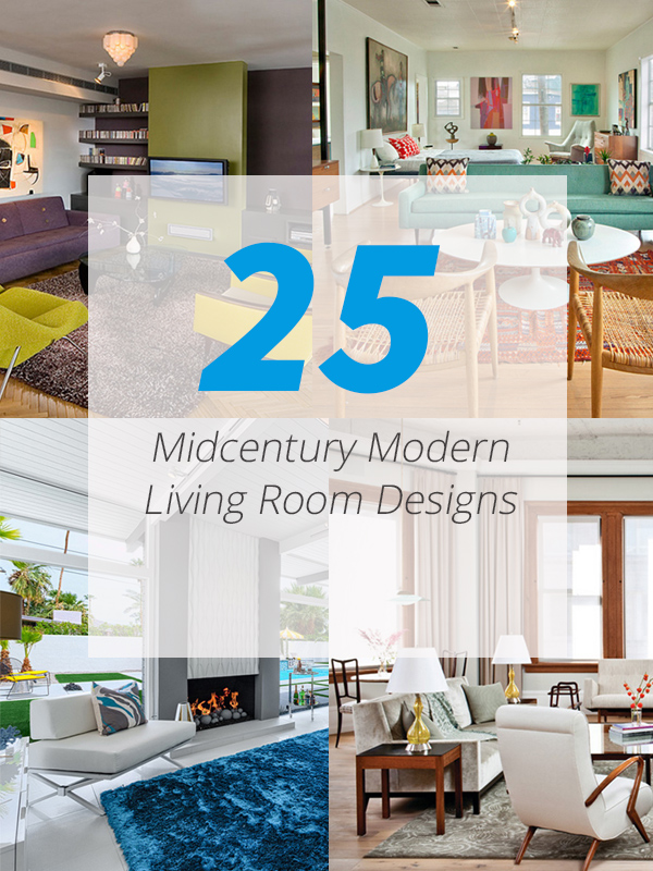 25 Bright Midcentury Modern Living Room Designs | Home Design Lover