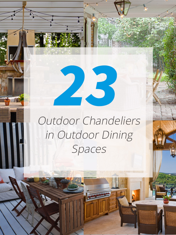 outdoor chandelier dining