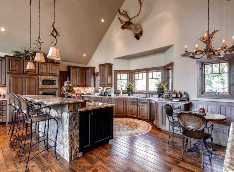 20 fashionable ways to add antler chandeliers in the kitchen home antler chandeliers kitchen aloadofball Images