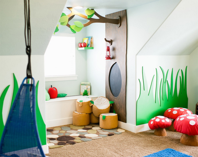 Whimsical Woodland Playroom by Mollie Openshaw