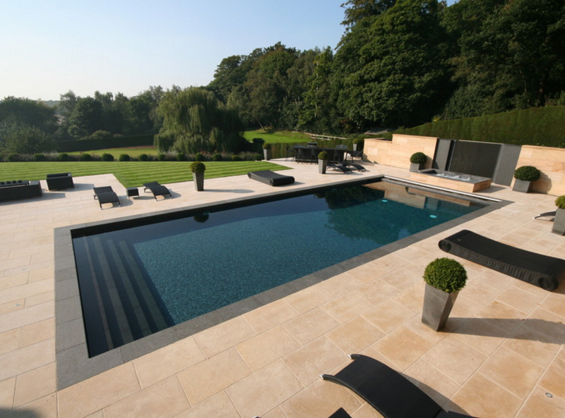 20 breathtaking black pool chairs home design lover for Outdoor pool london