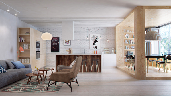 Small Yet Functional Apartment in Russia