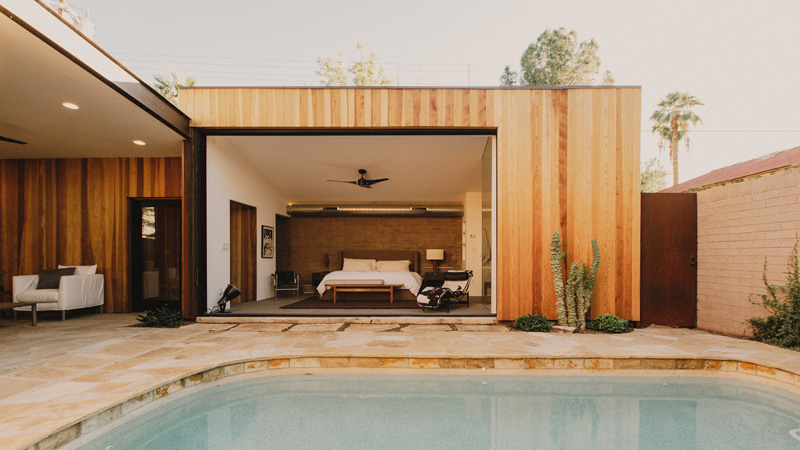 Redwood Clad Home open