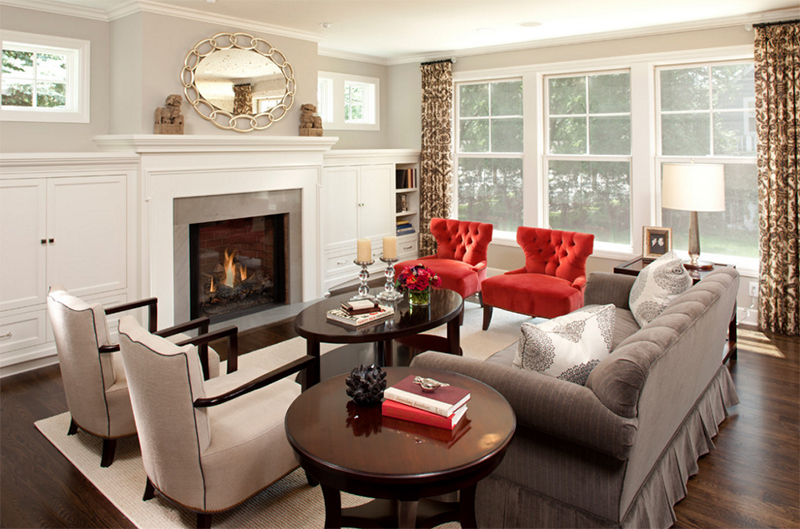 Tufted Chairs. REFINED LLC. Imagine This Living Room Without The Red ...