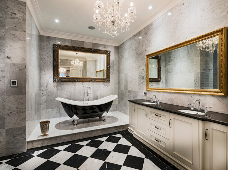 Watkins Road & 20 Gorgeous Bathroom Crystal Chandeliers | Home Design Lover