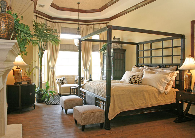 20 tropical bedroom furniture with exotic allure home for Tropical canopy bed