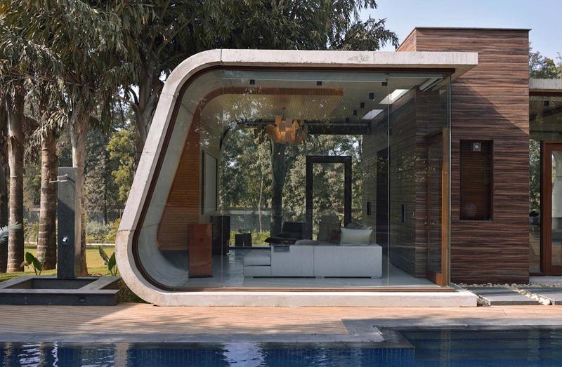 Pool House living