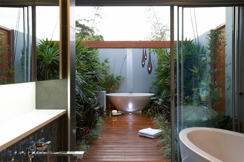 25 Inviting Tropical Bathroom Design Ideas