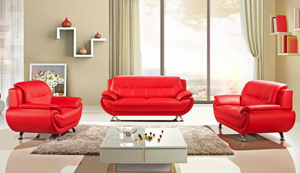 20 Ravishing Red Leather Living Room Furniture
