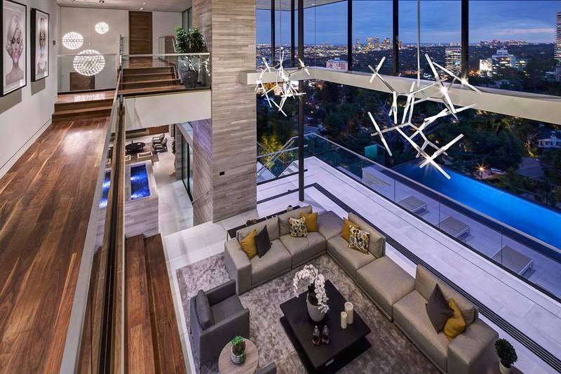 Hollywood Hills Home lighting