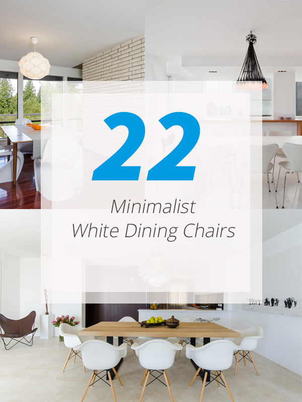 minimalist dining white chairs