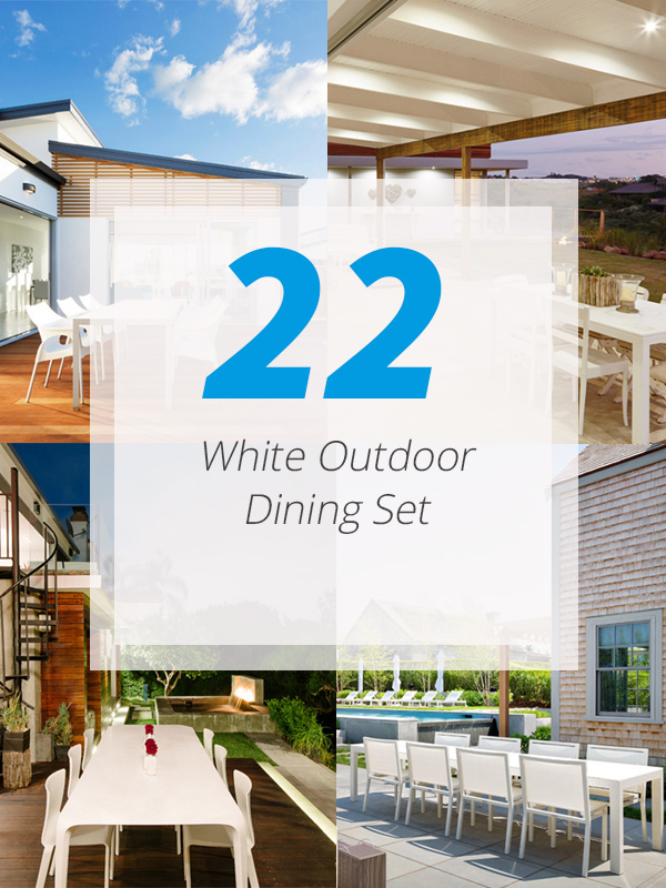 22 Neat White Outdoor Dining Sets In The Patio