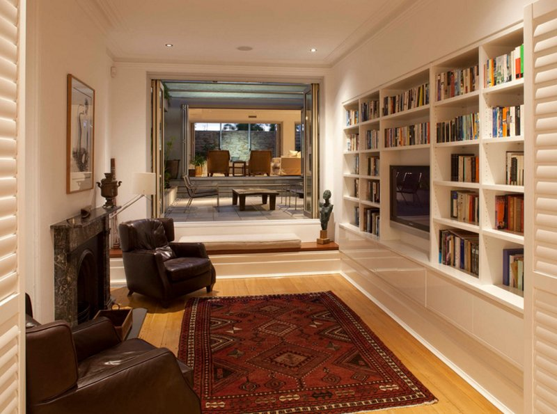 22 Interesting Ways to Add Bookshelves in the Living Room | Home ...