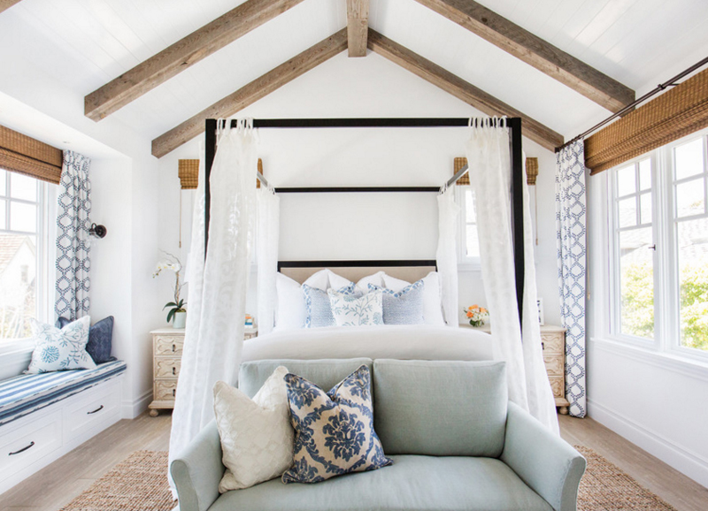20 Beautiful Bedrooms With Reclaimed Beams And Ceiling