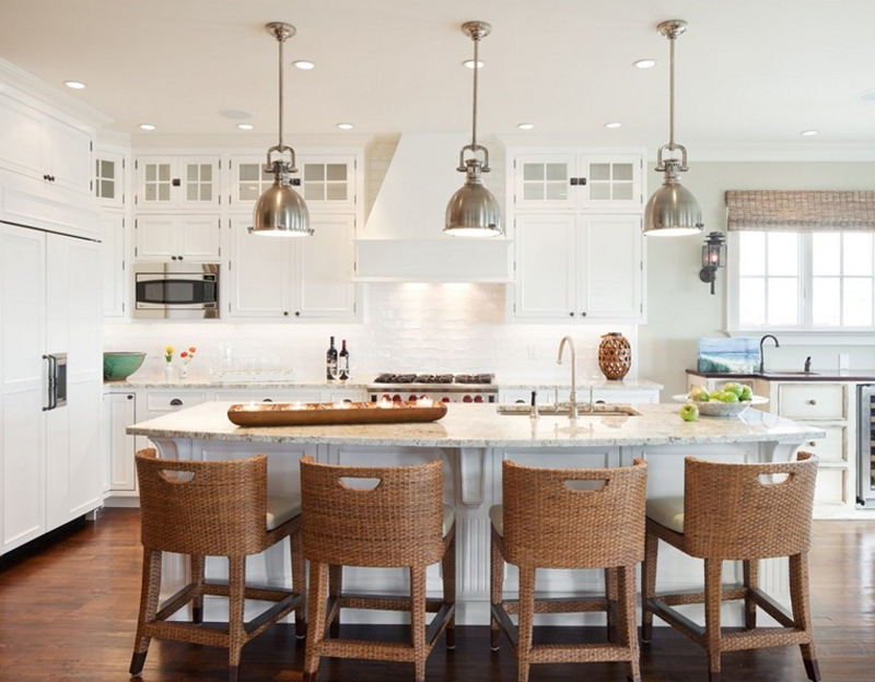 Attirant Richard Bubnowski. Richard Bubnowski Design LLC. These Rattan Kitchen Stools  ...