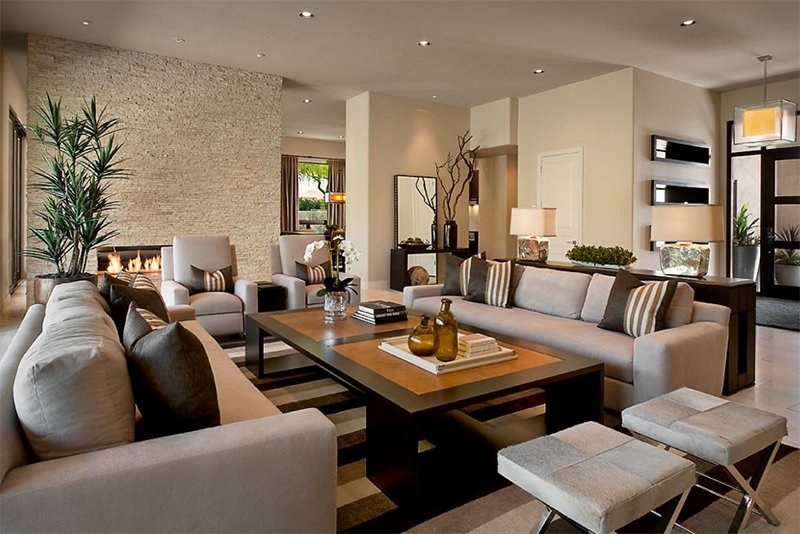 Decorated Living Area