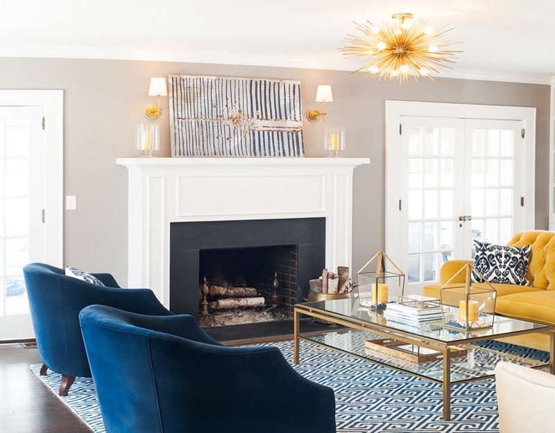 blue and gold living room 20 appealing living rooms with gold and navy accents 18484