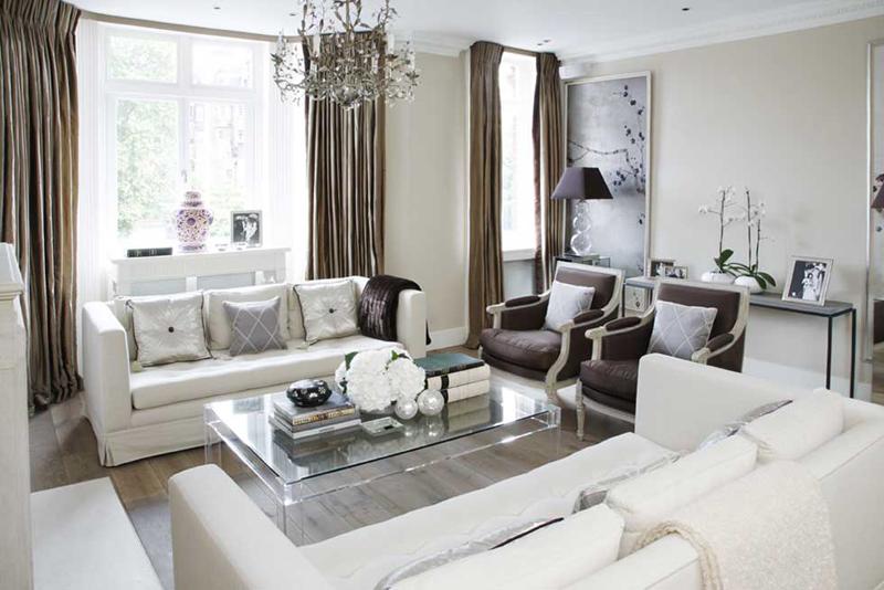 light-colored furniture