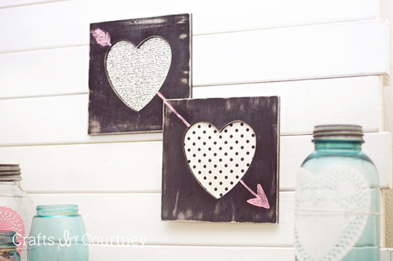 PB Kids Inspired DIY Valentine Heart Chalkboard Frames