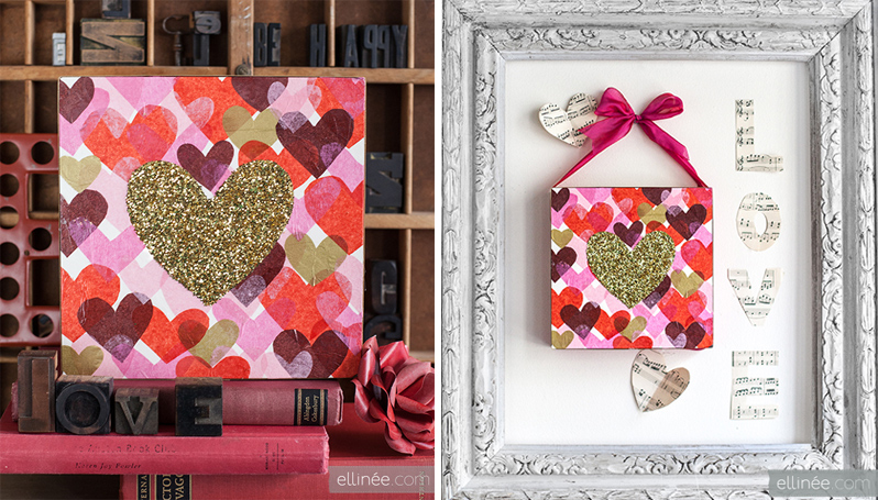 DIY Glitter Heart Art
