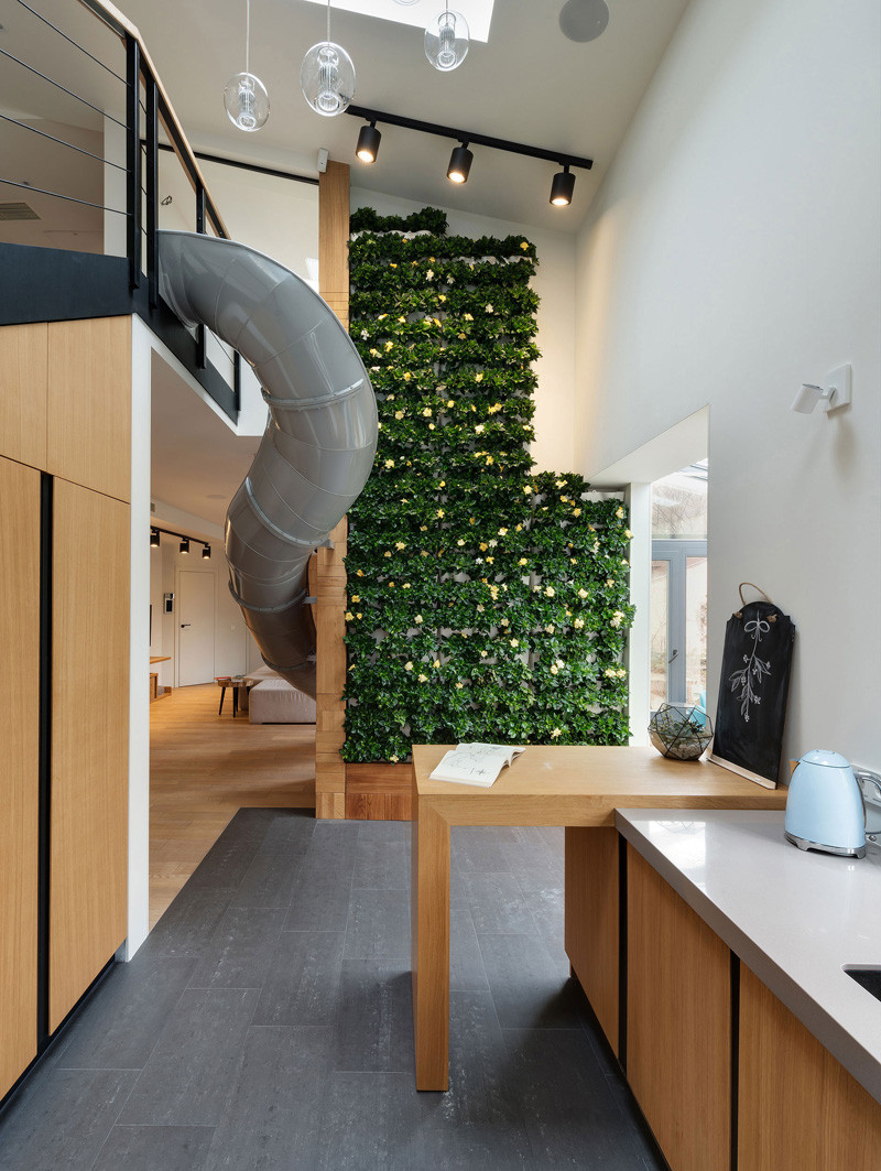 Apartment Slide living green wall