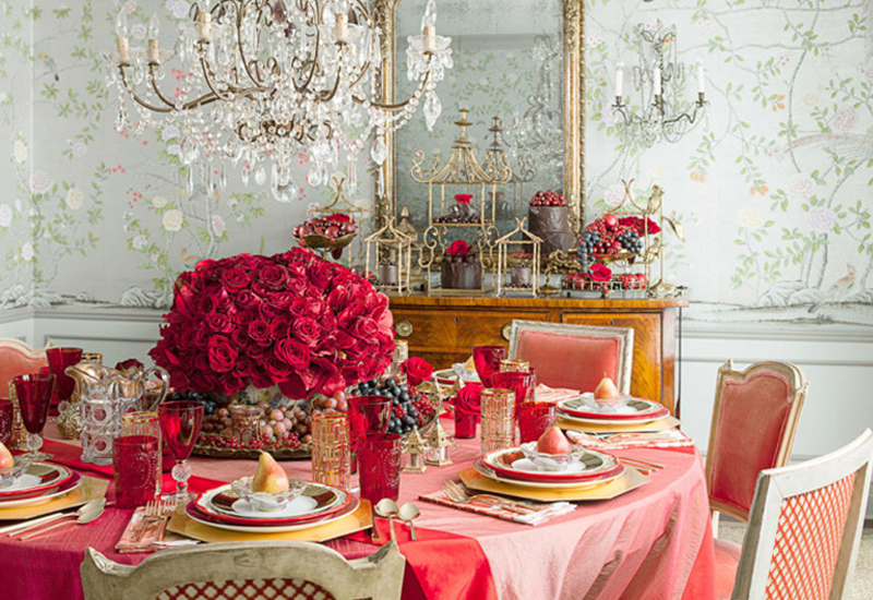 Create a romantic tablescape
