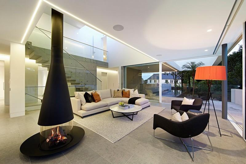 Barcelona Apartment fireplace