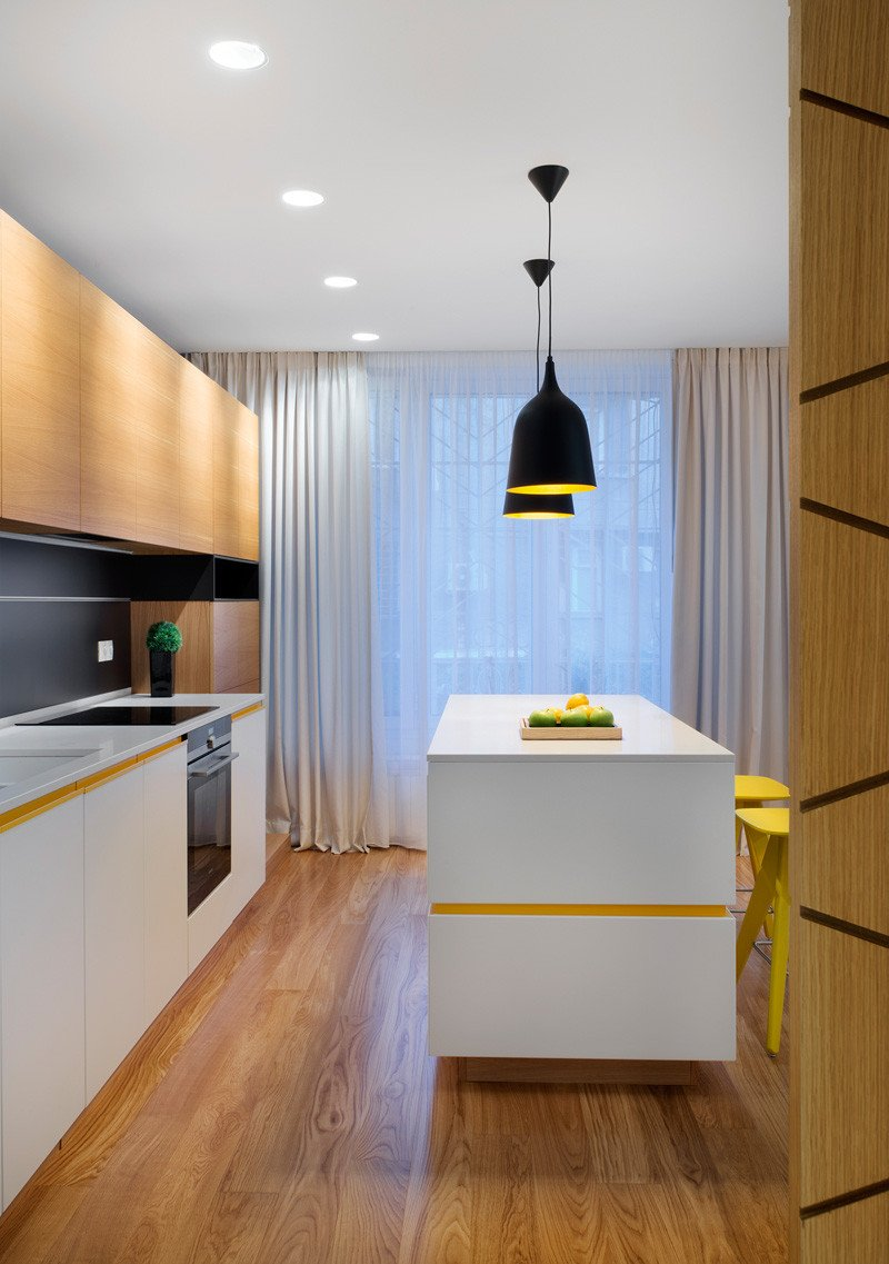 Yellow Apartment kitchen