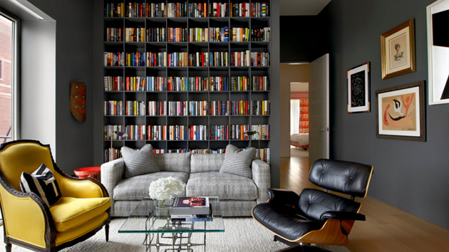 22 Interesting Ways to Add Bookshelves in the Living Room ...