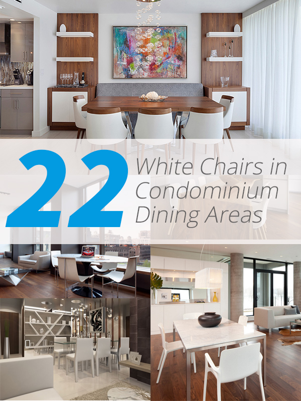 condo white dining areas