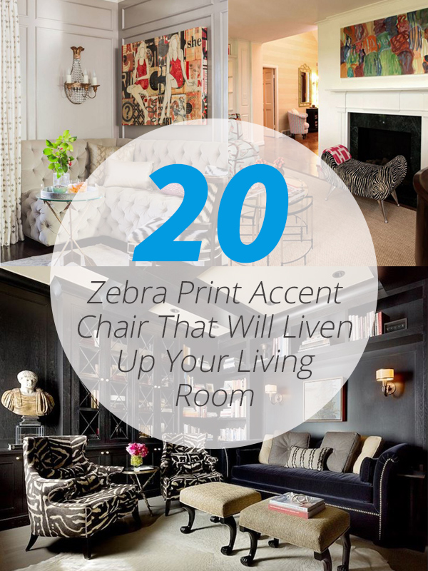 zebra accent chairs
