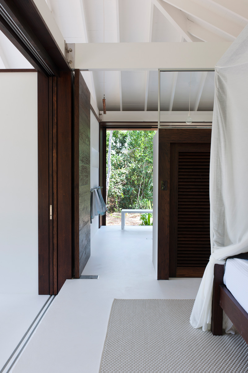 tropical beach house door
