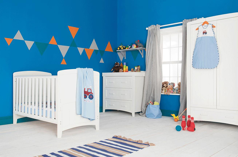 Kiddicare Darcy Nursery Furniture Cot Bed Roomset White