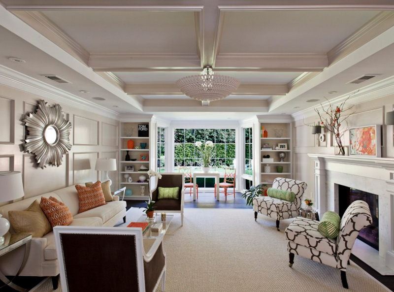 Glass Chandeliers In 20 Fabulous Living Areas Home