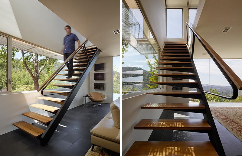 Shou Sugi Ban Siding stairs