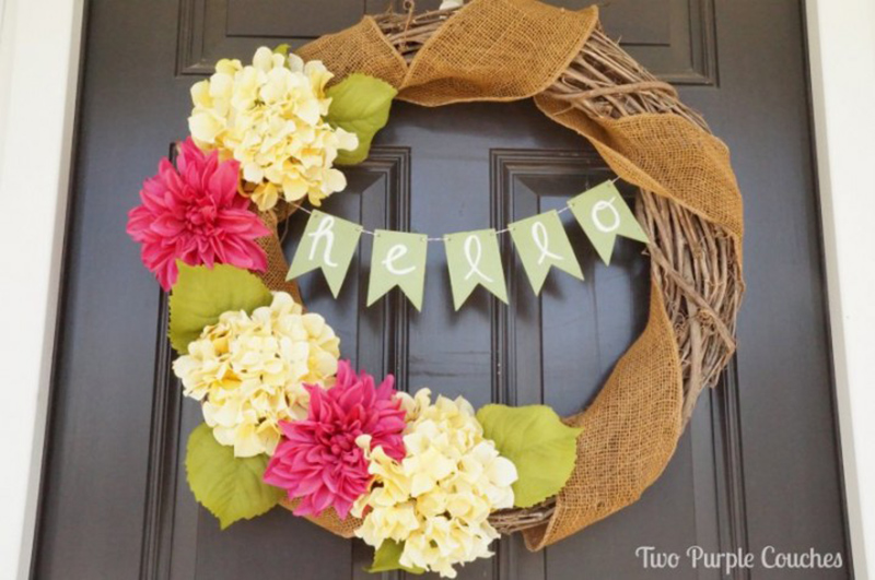 Spruce Up a Wreath with a DIY Banner