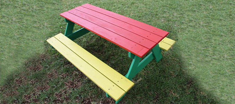 kids colorful picnic table